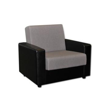 кресло серое кож за черный