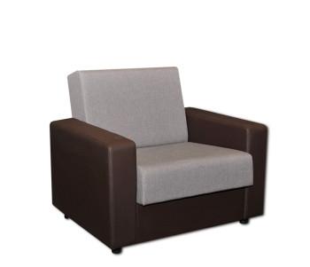 кресло серое кож зам корич